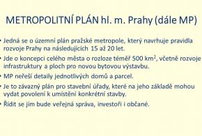 Metropolitní plán prezentace 2