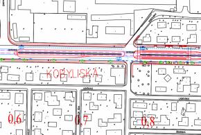 Návrh zastávky Kobyliská varianta II.