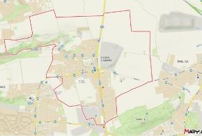 Hranice městské části (zvlášť důležitá severní jako hranice obce)